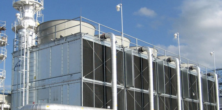 large cooling tower system
