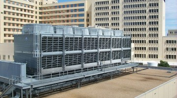 large roof air system stacked