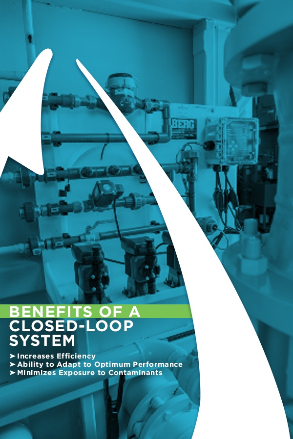 closed loop systems increase efficiency, have the ability to adapt to optimum performance and minimizes exposure to contaminants