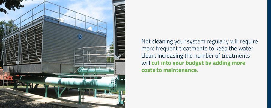 cleaning your cooling tower with chemicals will reduce your operation costs