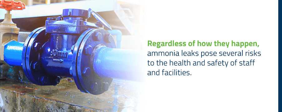 risks of ammonia leaks